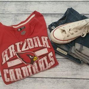AZ Cardinals Red Distressed T-shirt M